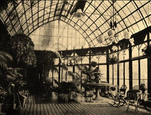 Conseratory with huge Glass Roof circa 1890