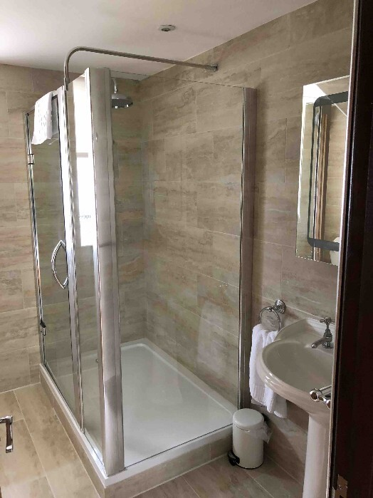 Room AB13 Craig y Nos Castle Shower en-suite