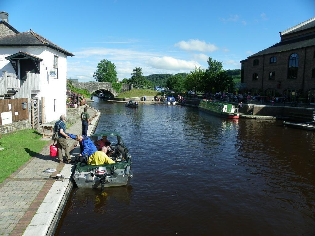 Brecon Canal in Brecon Town