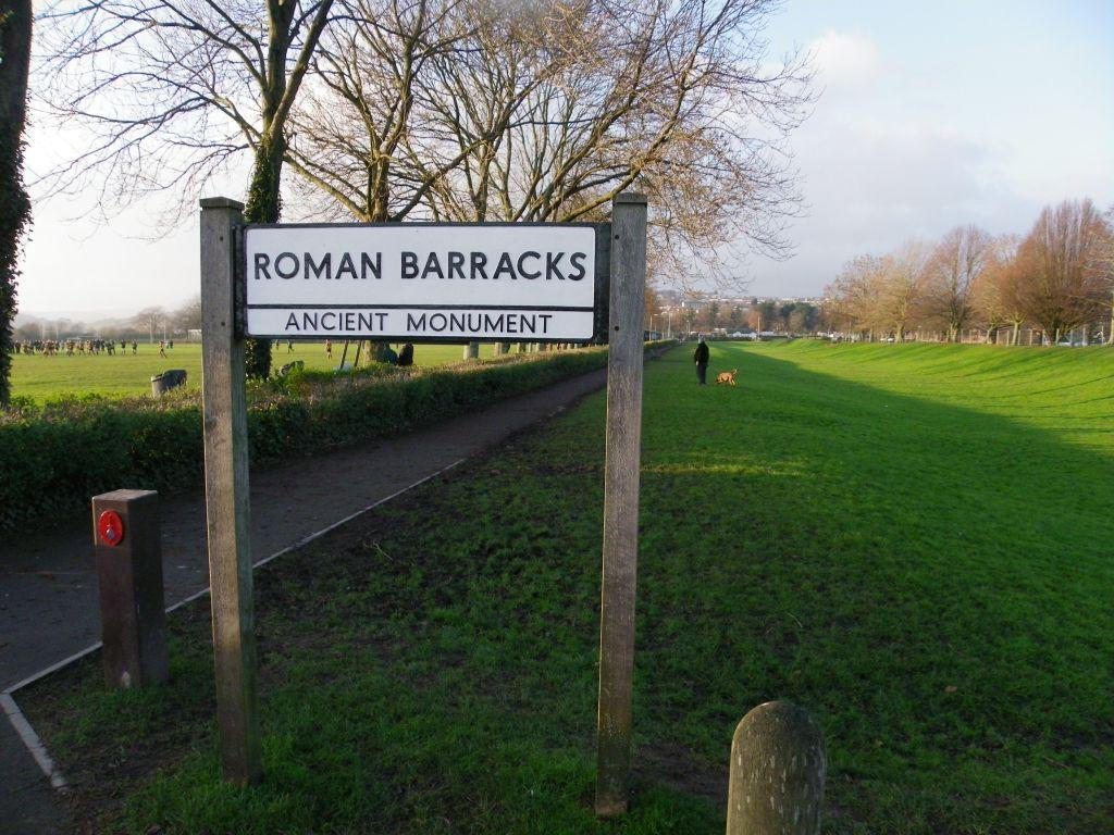 Caerleon Roman Barracks sign