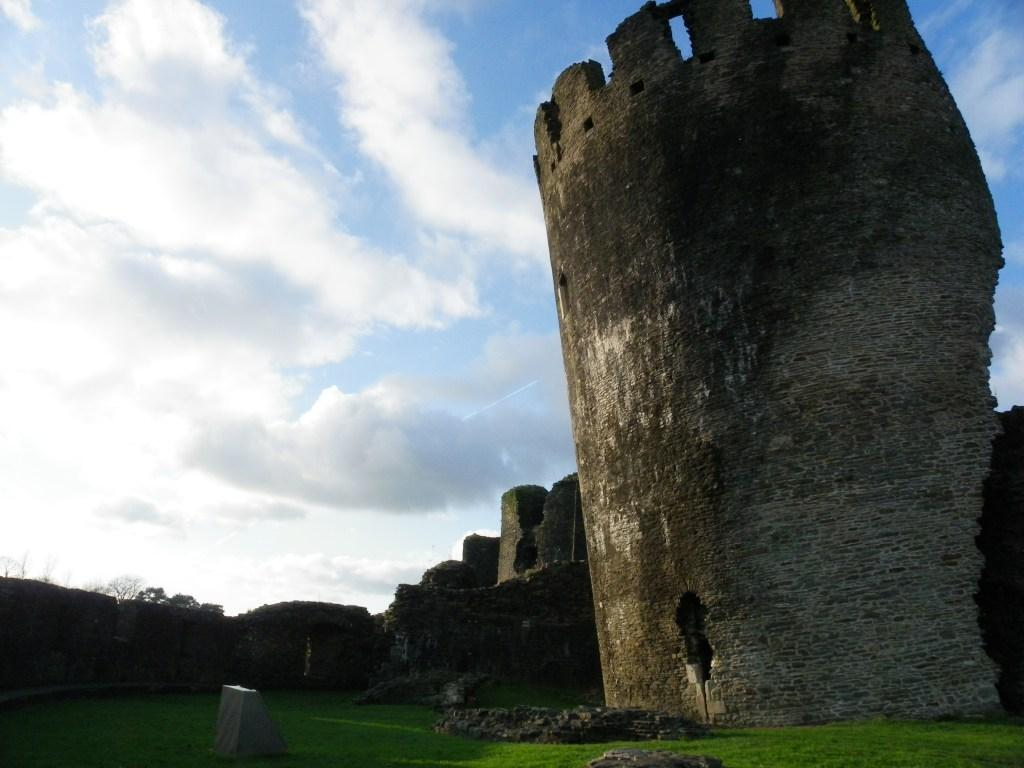 Caerphilly Castle leaning tower