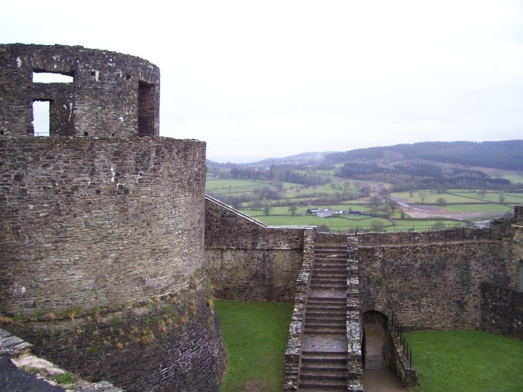 Dinefwr Castle Tower and steps to rampart walls