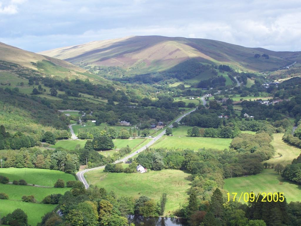 Dog Friendly Accommodation Brecon Mountain Walk aerial view of the Upper Swansea Valley