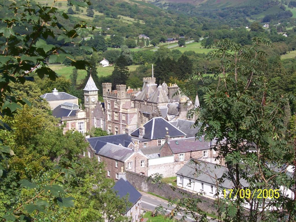 Dog Friendly Hotel Wales, Craig y Nos Castle Aerial Photograph