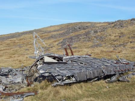 Dog Friendly holiday in Brecon Beacons, Swansea Valley - Craig y Nos Mountain Plane Wreck