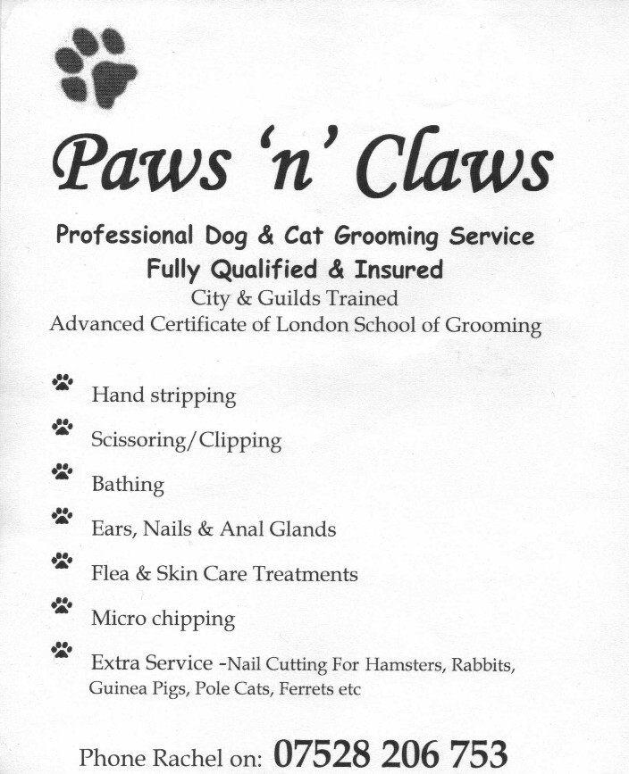 Paws n Claws Contact Details