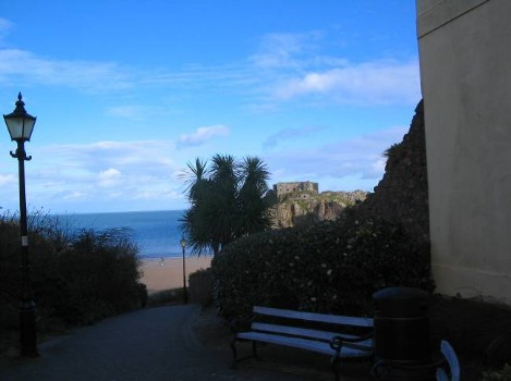 Dog Friendly B&B Wales - a dog's day out in Tenby, path to beach