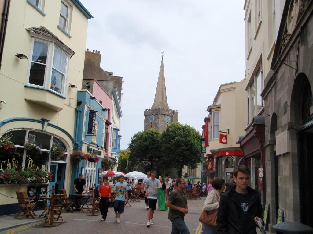 Tenby Town colourful houses and nice town streets for walking and browsing